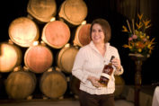 Lorena Vasquez with Ron Zacapa