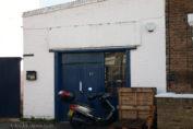 Garage door at Sipsmiths Distillery