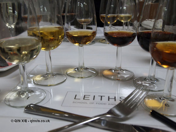 dessert and wine matching at Leiths School of Food and Wine