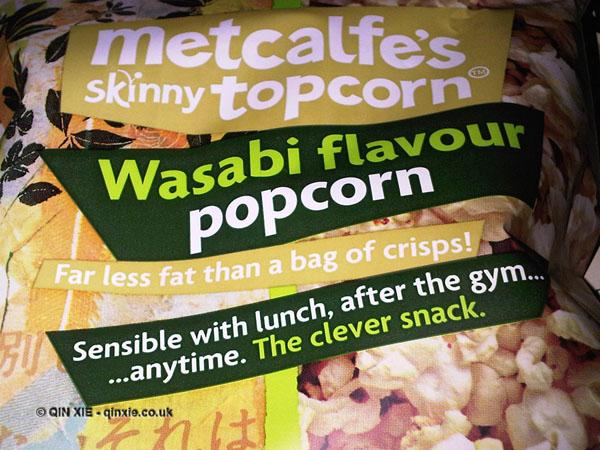 Metcalfes Skinny Topcorn Wasabi Popcorn