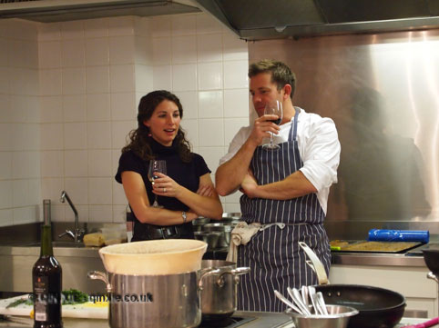 Matt Tebbutt in kitchen with wine