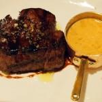 Fillet steak with peppercorn sauce at Bistro du Vin, Soho