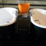 Twin baths at Hotel du Vin, Bristol