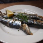 Grilled sardines at River Cottage Axminster