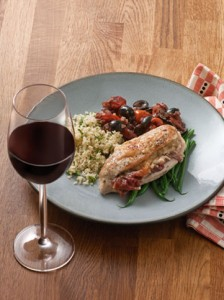 Chicken Supremes stuffed with Parmigiano-Reggiano cheese and Parma Ham