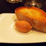 Foie gras parfait with warm toast at The Lawn Bistro