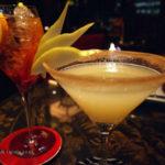 Negroni Sbagliato and Pear and Cinnamon Martini at Amaranto Bar, Four Seasons London