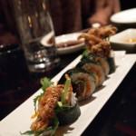 Dragon roll, sushi making at Ichi Sushi and Sashimi Bar