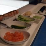 Sushi ingredients, sushi making at Ichi Sushi and Sashimi Bar