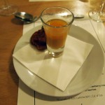 Crab cake and prawn bisque, Jimmy's Supper Club at Annex East