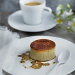 Tonka bean crème brûlée with hazelnut oil and coffee