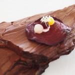 Beetroot crisp, beetroot and cream, Mirazur, Menton