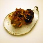 Liver parfait with chutney, Nespresso with Phil Howard