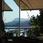 Windowside table, Mirazur, Menton