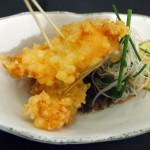 Langoustine tempura with spicy shiso ponzu, Wabi, Holborn