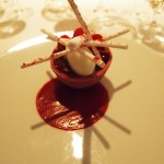 Raspberry, lychee, rose, Champagne Duval-Leroy lunch at The Greenhouse, Mayfair