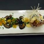 Roasted scallop with yuzu truffle egg sauce, Wabi, Holborn