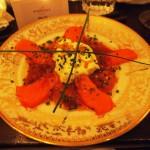Salmon sashimi South American Way, Luiz Hara, London Foodie Japanese Supperclub with Bordeaux Wine