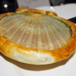 Baked scallops with seaweed, Languedoc wines at Apero, Ampersand Hotel