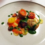 Lamb – sweetbread, carrots, mint sauce, Bubbledogs Kitchen Table, Fitzrovia