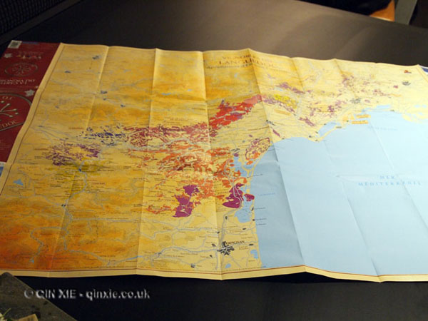 Map of the South of France, Languedoc wines at Apero, Ampersand Hotel