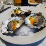 Oysters with mango, horse radish, honey, mango sauce, Graanmarkt 13, Antwerp, Belgium