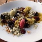 Cherry souffle with pistachio ice cream, Ormer by Shaun Rankin, Jersey