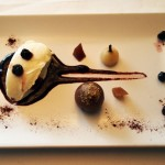Chokeberries with sweet cream cheese, Arzak, San Sebastian