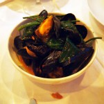 Devilled mussels, sea aster and cider, One Leicester Street