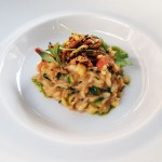 Jersey crab risotto, coriander, tomato and puffed rice, Ormer by Shaun Rankin, Jersey