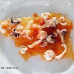 Cuttlefish with rice crisp, lemon mayo, smoked paprika salt, Qin Xie Christmas 2013