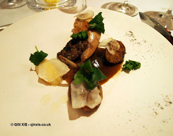 West Country partridge with Jerusalem artichoke at Hibiscus