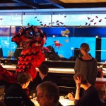 Lion dance, Chinese New Year at Yauatcha, London