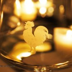 Rooster glass, Chianti Classico 2014 dinner