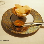 Honey amber jelly and sambuca petals, Enoteca Pinchiorri, Florence