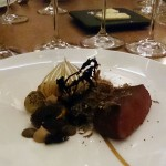 Fallow deer, mushrooms, black pudding and onion, Five Fields, Chelsea