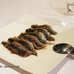 Flame cooked sardine fillets with herbs, lemon, tomato and black olives, Entrevins, Valencia