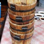 Wooden buckets, Tian Yuan Yin Xiang, Chengdu