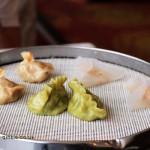 Steamed dumplings, Dumplings feast at De Fa Chang, Xian, China