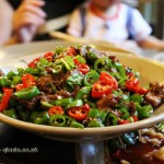 Beef and chilli stir-fry, Ren Ming Shi Tang (People's Public Restaurant), Chengdu, China