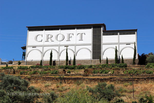 Croft Port from the river, Douro Valley, Portugal
