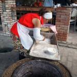 Kneading dough for tone bread in Georgia