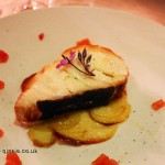 Slice of wild morone on crisp potatoes, Osteria Cantine Cattaneo, Sestri Levante