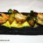Butter glazed shrimp, Rhodes at Calabash, Grenada